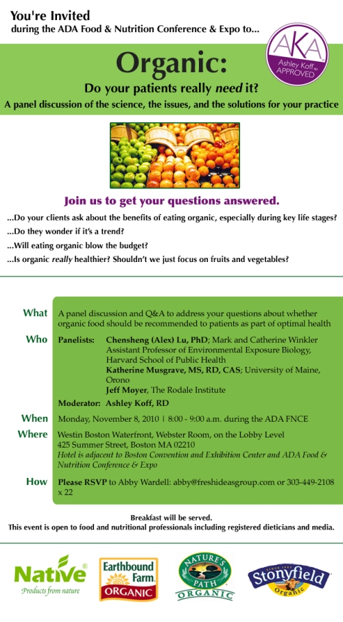 ADA Food and Nutrition Conference Invite